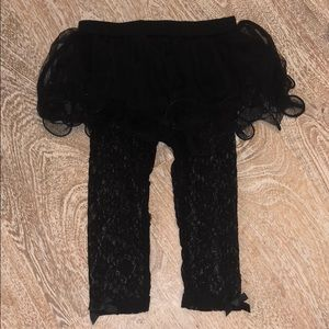 Baby starters black tutu lace 12 months leggings